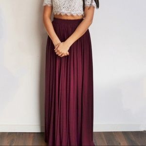 Burgundy Maxi Skirt